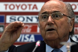 FIFA President Sepp Blatter speaks during a news conference at FIFA Club World Cup soccer tournament in Marrakech.