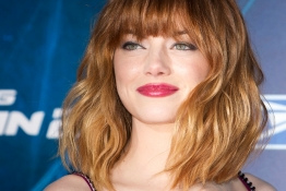 "Actress Emma Stone arrives for ""The Amazing Spider-Man 2"" premiere in New York."