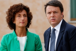 Italy's Prime Minister Matteo Renzi and his wife Agnese.