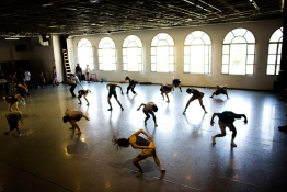Dancers from the Batsheva Dance Company rehearse at their studio in Tel Aviv.
