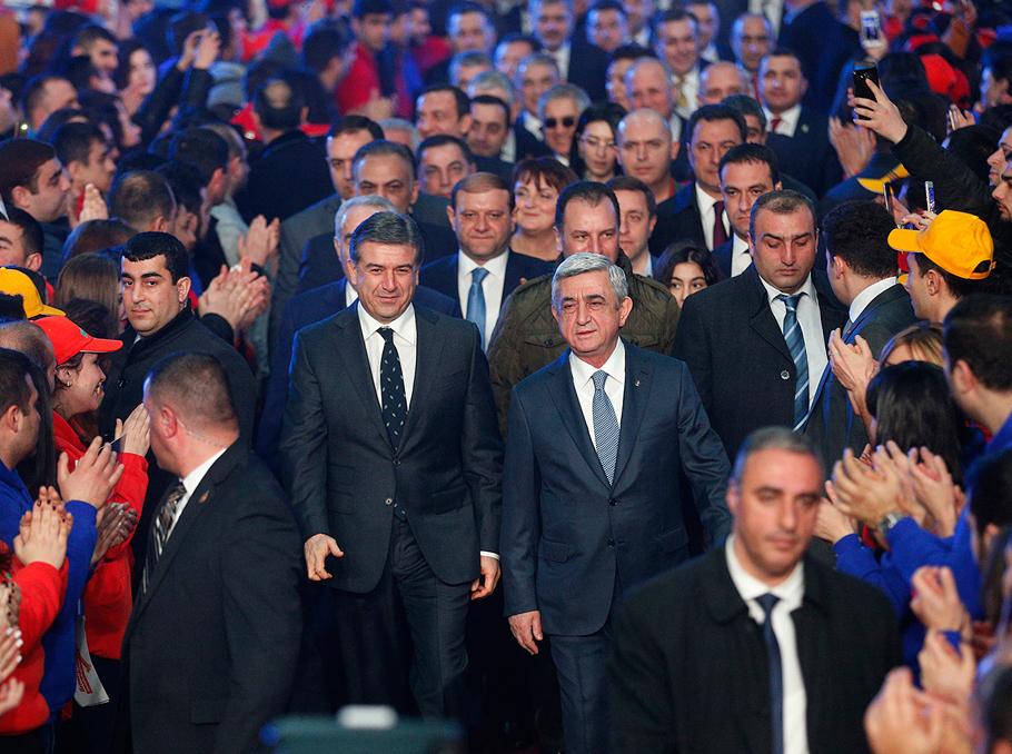 Карен Карапетян и Серж Саргсян