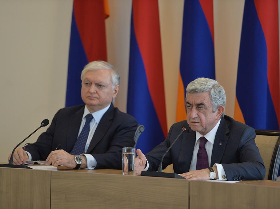 Edward Nalbandyan and Serzh Sargsyan