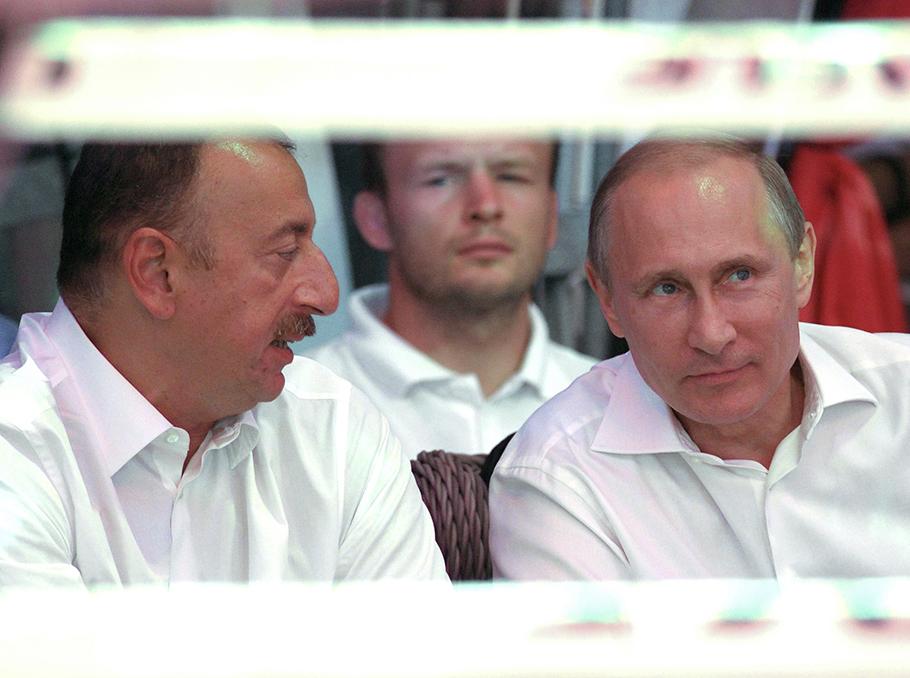 Ilham Aliyev and Vladimir Putin