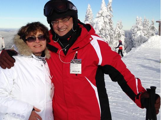 Skiing at Mont Tremblan, Canada.
