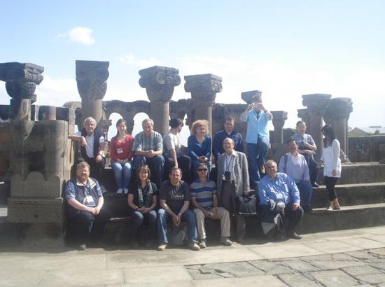With Tsaghkadzor conference participants in Zvartnots, May, 2010.