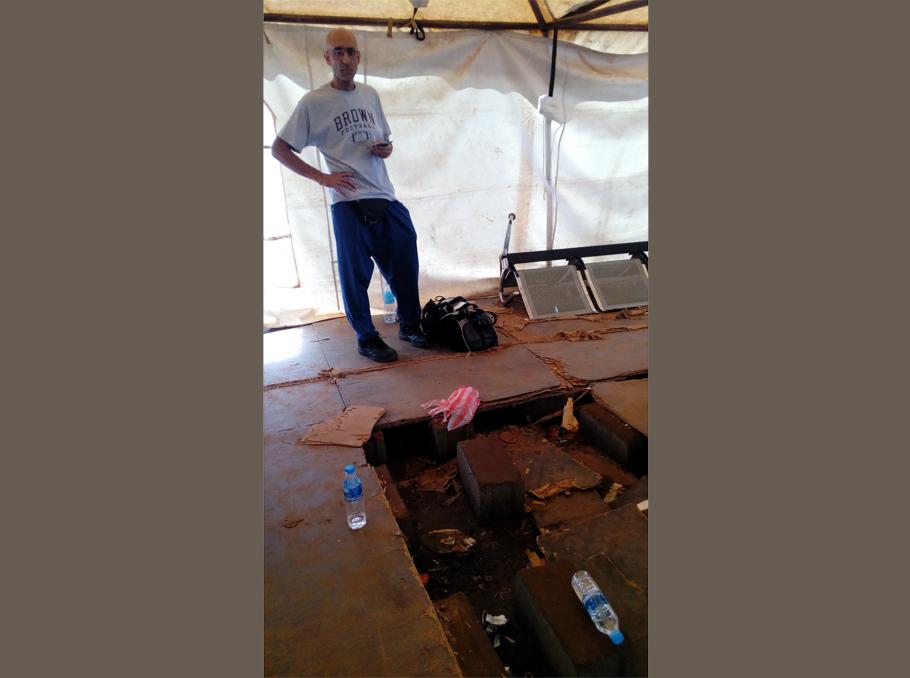 Tom Catena at Juba airport