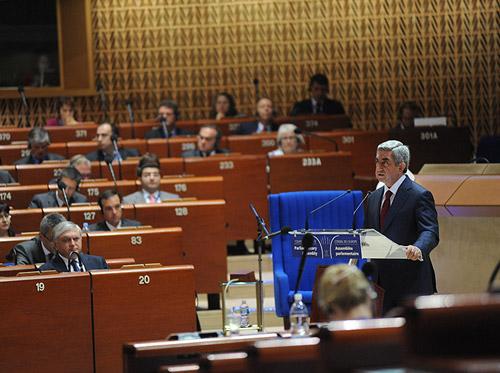 Serzh Sargsian's speech at PACE session